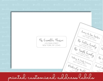 "Christmas Card List Address Labels - 1""x2-5/8"" - Individual and Different Names and Addresses on Each Label! READ INSTRUCTIONS"