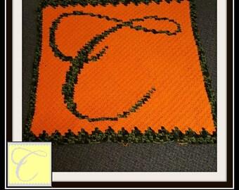 C2C Graph, Letter C, Baby Blanket, C2C Graph, & Written Word Chart