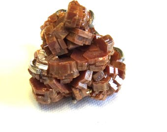 All Natural Vanadinite • solid sterling SILVER • Faceted • Size 9 •