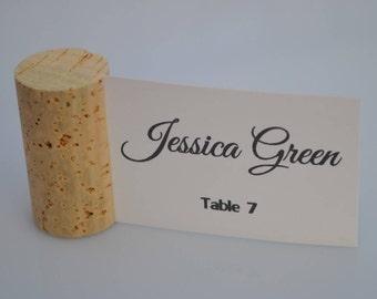 Beautiful Blank Natural Vertical Wine Cork Place Card Holders - Weddings - Parties Model 2