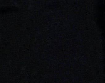 Plain black 100% cotton fabric