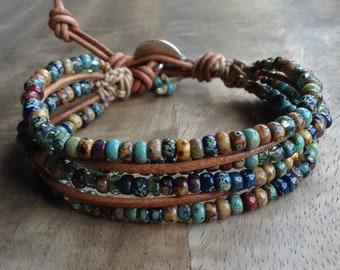 Bohemian bracelet boho chic bracelet hippie bracelet bohemian womens jewelry rustic bracelet western bracelet gypsy gift for her