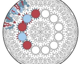 Mandala Coloring Pages - The Laptev - Mandala Coloring Page Printable, Adult Coloring, Digital Coloring, Mandala Art