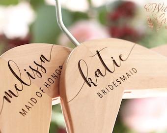 Bridesmaid Hangers - Wedding Hangers - Bridesmaid Gift - Engraved Hangers