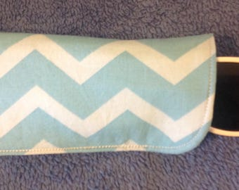 Blue Chevron Eyeglass/Sunglasses Case, lined/padded, Adults, Teens, Kids-glasses not included.