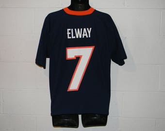 Vintage 90s Logo Athletic Denver Broncos John Elway #7 Jersey Medium