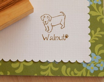 Charity Stamp Custom Wire Dachshund Olive Wood Stamp