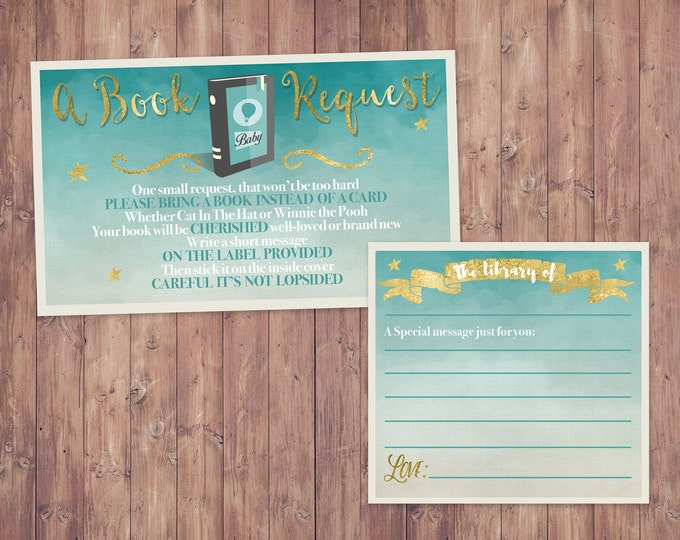 Book request, Diaper Raffle, Oh The Places You Will Go Baby Shower Invitation • Dr. Seuss Baby Shower Invitation •  Oh The Places You'll Go