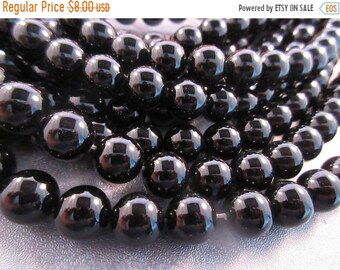 ON SALE 20% OFF Black Onyx 10mm Round Beads 39pcs