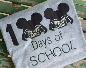 100 Day of School Star Wars Darth Vader Shirt