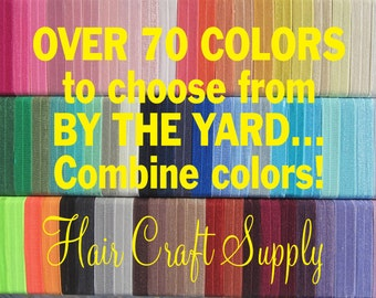 Fold Over ELASTIC 5-20 yards - List color choices in notes to seller on checkout, chose any color from our large selection