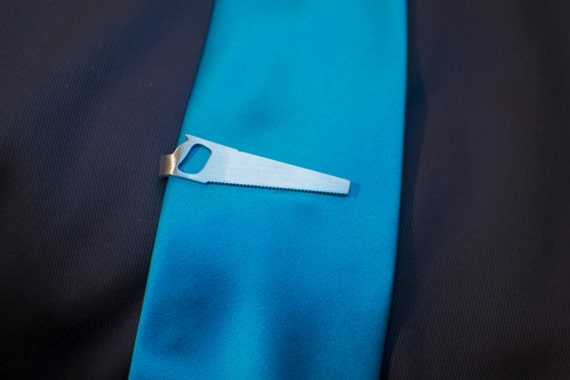 Saw Tie Clip