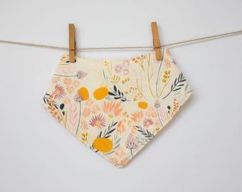 Floral baby girl bib bandana - bibdana