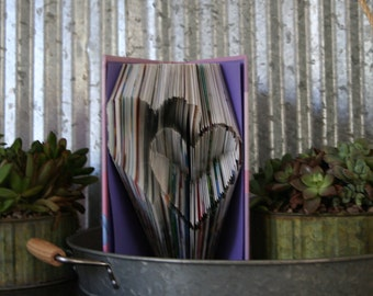 Folded Book Art-From Recycled Books