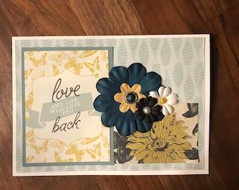 Set of 2 Handmade Cards - Love