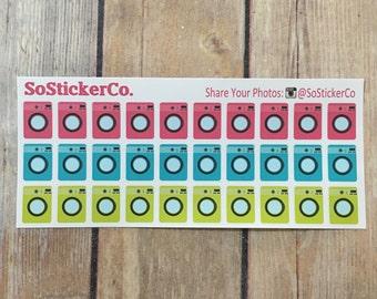 Washing Machine Stickers, Laundry, Laundry Machine, Wash, Washer, Cute Laundry Machine, Stickers #FS03