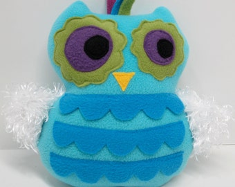 Cuddly Turquoise Owl