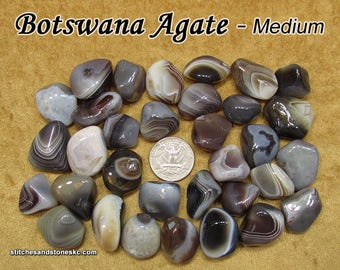 Botswana Agate tumbled stone for crystal healing — multiple sizes available