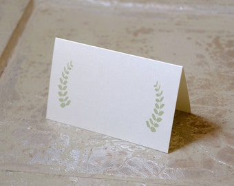 """Placeholder - Place Cards - Fern Design - Floral Design - Tented Place Cards - Personalized or Blank - 2.75""""x4.25"""""""