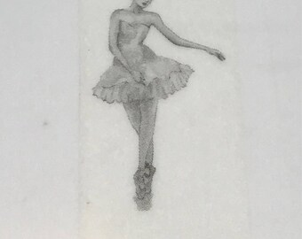 Black & White Ballerina Washi