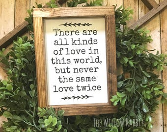 All Kinds of Love in this World | F Scott Fitzgerald Quote | Great Gatsby Sign | Farmhousr Decor | Great Gatsby Quote