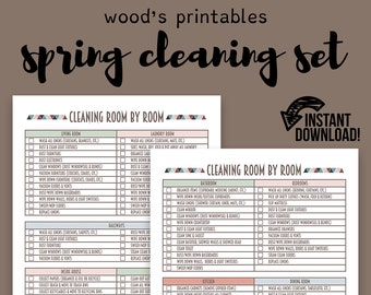 Spring Cleaning Planner PDF Printable; Cleaning Printable, Home Binder, Household Binder, Cleaning Schedule, Cleaning Checklist