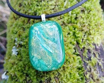 Green Fused Glass pendant
