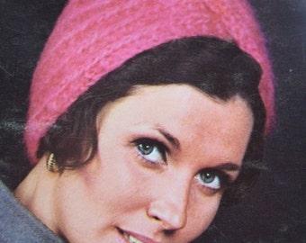 1960's Vintage Knitting Pattern Women's Turban Hat PDF Pattern 2164-165