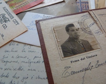 10 Italian EPHEMERA paper SET - Assorted antique papers from past in Italy