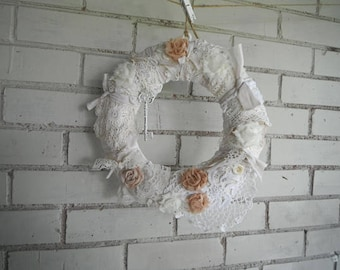 shabby chic wreath petite decor nursery wreath kranz shabby decor bridal shower victorian style wreath nursery decor holiday decor 11 in