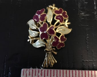 Heart Bouquet Brooch