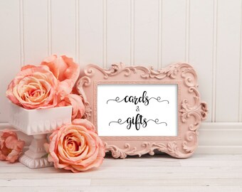 Cards and gifts sign, cards sign wedding, gifts sign, cards and gifts printable