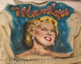 Reenesha 1980s Marilyn Monroe Jean Jacket