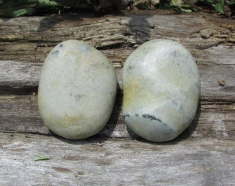 Natural Stone Cabinet Knobs DREAMY WHITE Large Beach Stone Cabinet Knobs