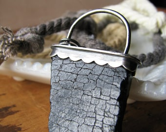 """Fossil Pendant- """"By the Elements"""""""