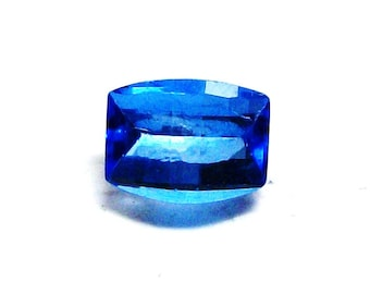 "Electric blue topaz, neon blue topaz, loose topaz, loose barrel cut, faceted topaz, jewelry supplies, ""Royalty"""