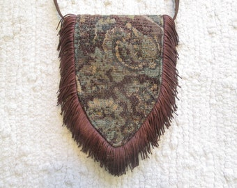 Small Spring Boho Gypsy Hippie Fringe Cross Body Cell Phone Bag Bag