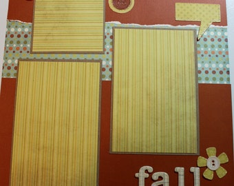 FALL 12 x 12 premade scrapbook page - Fall