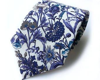 Liberty Purple Cornflower tie