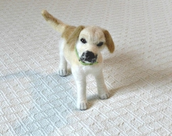 Your Pet in Miniature / Custom made / Cute / poseable / example Labrador Retriever
