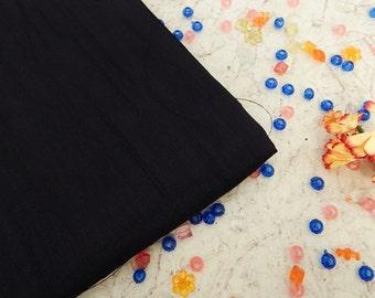 Black Pure Silk Fabric, Pure Dupioni Silk Fabric, Silk Fabric, Indian Silk Fabric, Black Silk Fabric