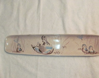Vintage Rare  Red Wing Bob White pottery bread tray 1950s