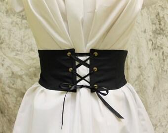 Black Renaissance Costume-Halloween Costume-Medieval Skirt-LARP-Ren Fair-Steampunk-SCA-Adult Costume-Fantasy Skirt-Item #191