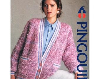 Women's Sweater Knitting Pattern - Pingouin 1268