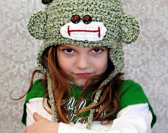 Leprechaun Sock Monkey Hats Crochet Pattern for Infants to Adults PDF 538