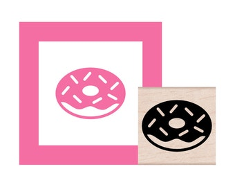 Donut Rubber Stamp