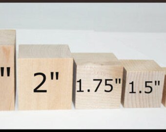 Various Sized Wooden Blocks, DIY Wood Blocks, Picture Blocks, Wood Cubes, Square Blocks, Solid Wood Blocks