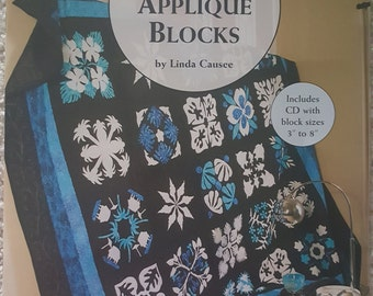 100 Any-Size Applique Blocks by Linda Causee