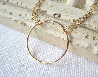 Gold, Gold Jewelry, Gold Necklace, Gold Circle, Gold Circle Necklace, Gold Charm Necklace, Gold Minimalist Necklace, Gold Jewelry, Gold Gift