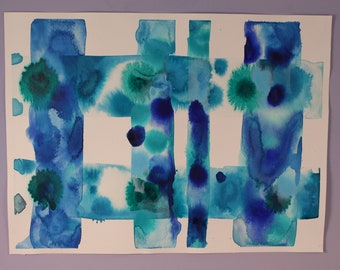 Blue Acrylic Ink Color Study